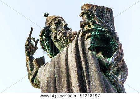 Detail Of The Monument To Gregory Of Nin In Split, Croatia
