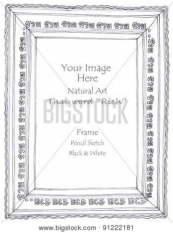 Richthai Word Picture Frame Pencil Sketch