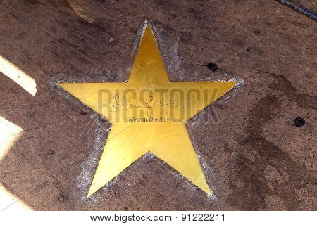 Star Of Clarc Gable  On Sidewalk In Phoenix, Arizona.