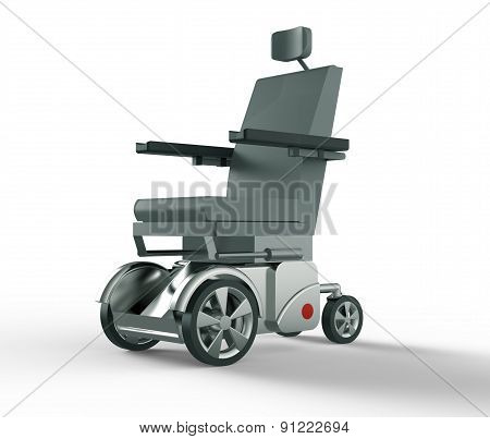 Electric Wheelchair Isolated On A White Back Ground