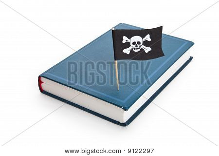 Livro e bandeira de pirata