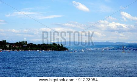 Zurich Lake In Switzerland