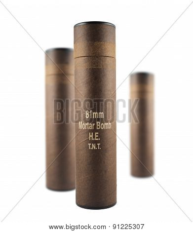 Composition of mortar bomb tube containers