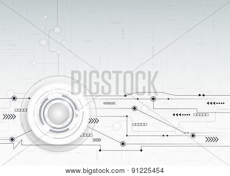 Vector Illustration  Hi-tech  Abstract Technology Background
