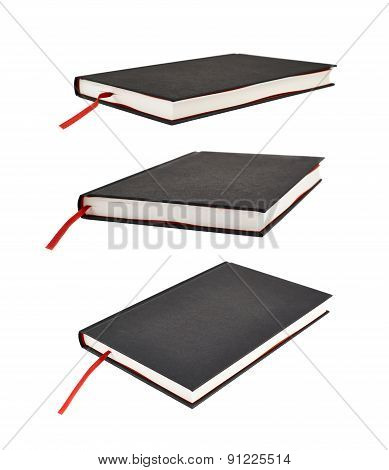 Black book with a red bookmark