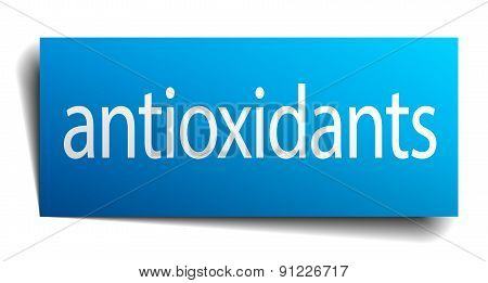 Antioxidants Square Paper Sign Isolated On White