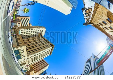Perspective Of Skyscrapers Downtown Phoenix