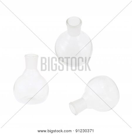 Chemistry glass bulb flask isolated