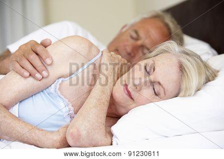 Senior Couple Asleep Bed