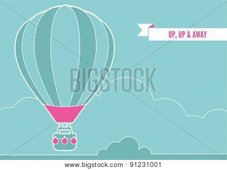 Hot Air Balloon And Clouds..