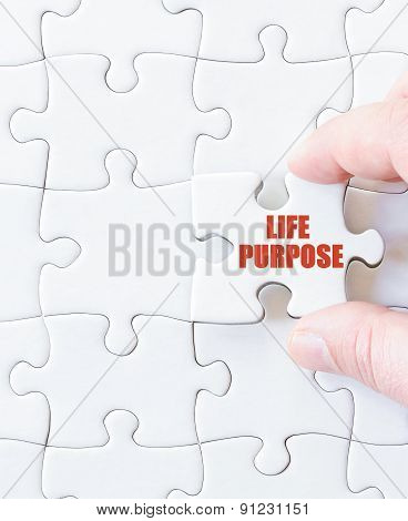 Last Puzzle Piece With Words Life Purpose