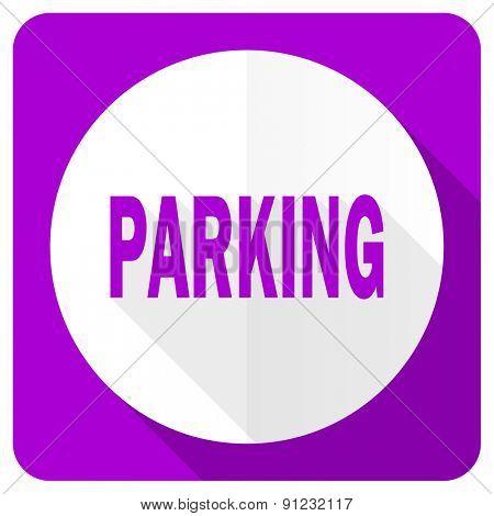 parking pink flat icon