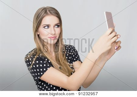 Woman cell phone