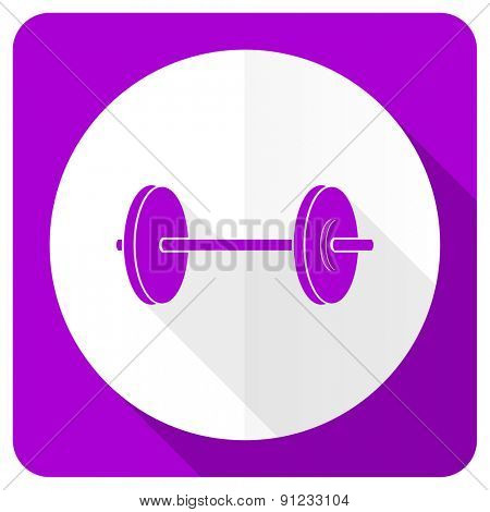 fitness pink flat icon