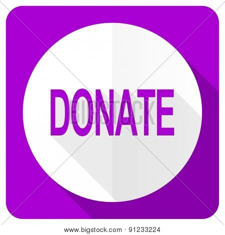 donate pink flat icon