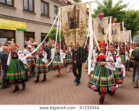 Corpus Christi procession in Lowicz.
