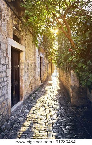 Old Stone Streets Of Trogir