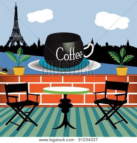 Drinking coffee in Paris