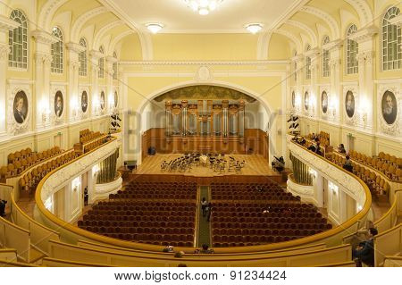 Grand Concert Hall At Moscow Conservatory
