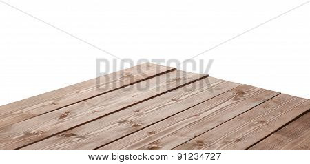 Dark brown paint coated wooden boards