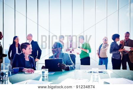 Multiethnic Group of People Meeting in the Office Concept