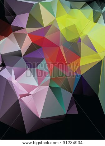Colorful Beautiful Polygonal Mosaic Background, Vector illustration, Design Templates