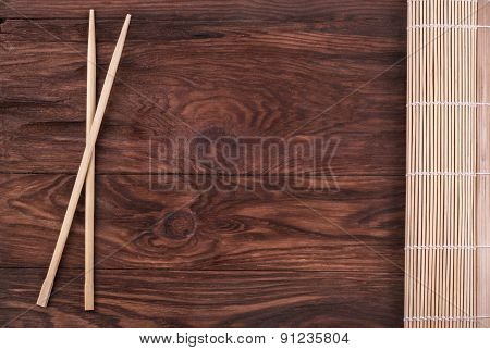Chopsticks And Bamboo Napkin