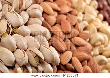 Heap Of Assorted Nuts