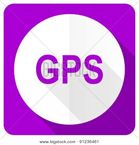 gps pink flat icon