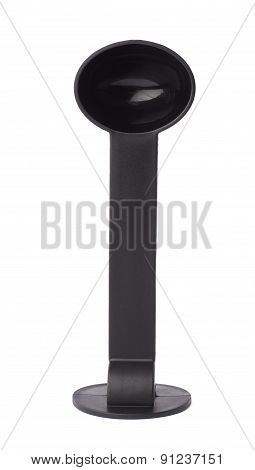 Black plastic espresso coffee tamper