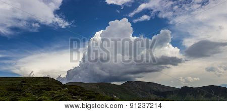 Cloud Over The Mountain Range