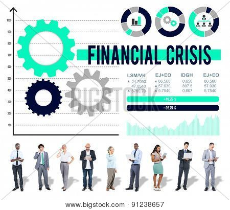 Financial Crisis Analysis Economic Data Concept