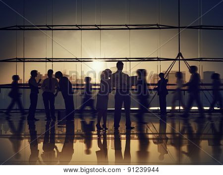 Business People Communication Corporate Colleagues Professional Office Concept