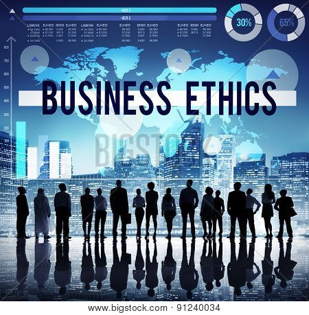 Business Ethics Moral Responsibility Business Concept
