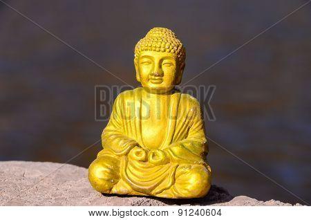 One Golden Buddha Statue