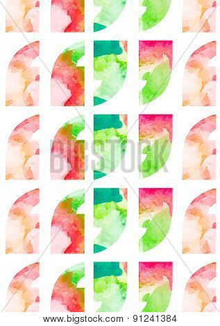 Quotation Marks With Watercolor Flower Pattern