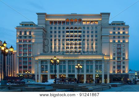 Four Seasons Hotel Moscow At Night