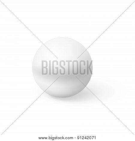 Realistic White Sphere