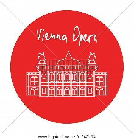 Vienna Opera House Building Vector