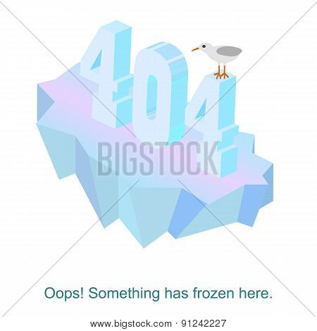 Page Not Found 404 Error Message Vector Illustration