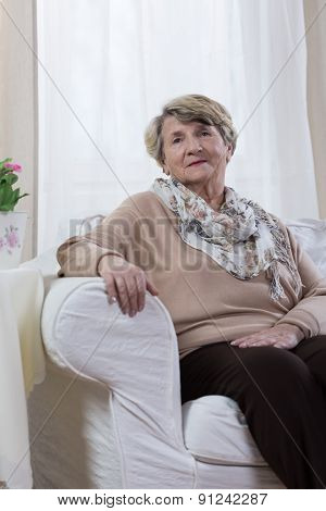 Calm Elderly Lady