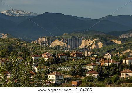 Village in Melnik town area, Pirin mountain
