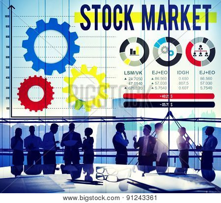 Stock Market Stock Exchange Financial Economy Concept