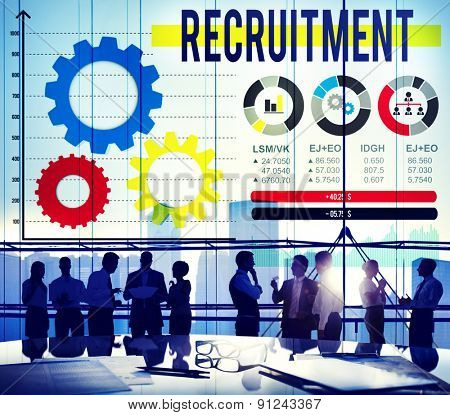 Recruitment Occupation Jobs Employment Hiring Concept