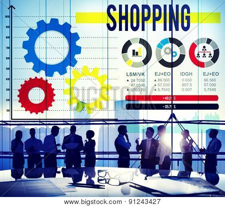Shopping Buying Spending Marketing Commercial Concept