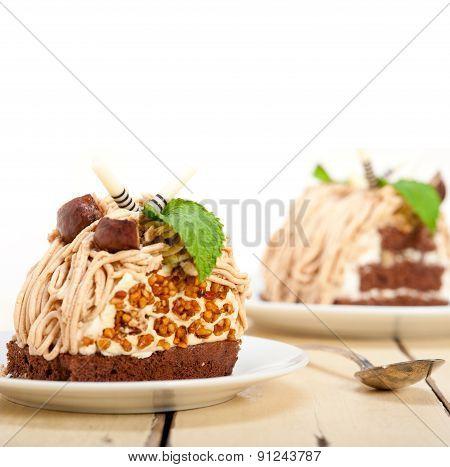 Chestnut Cream Cake Dessert