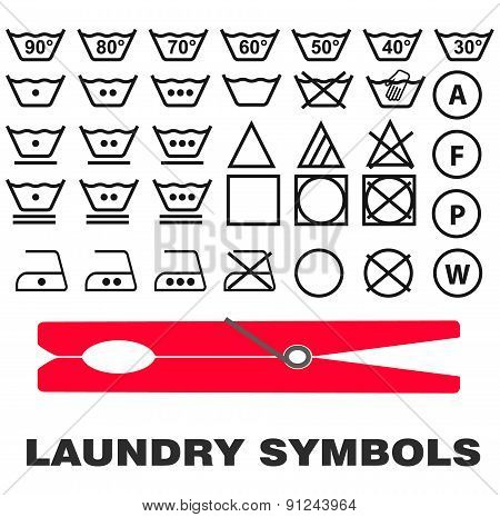 Fabric care laundry symbols