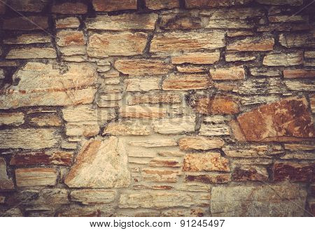 Stone wall as exterior trim option.