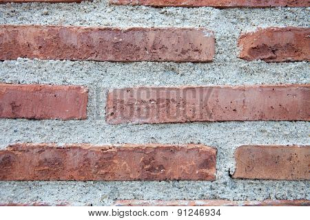 Detail of a red brick wall for wallpaper