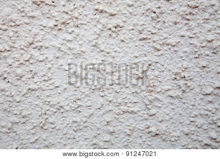 Dirty white outer wall paintig for use wallpaper